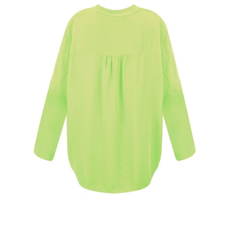 DECK Evie Easyfit Shirt Top - Green