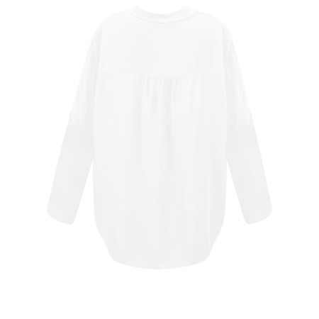 DECK Evie Easyfit Shirt Top - White
