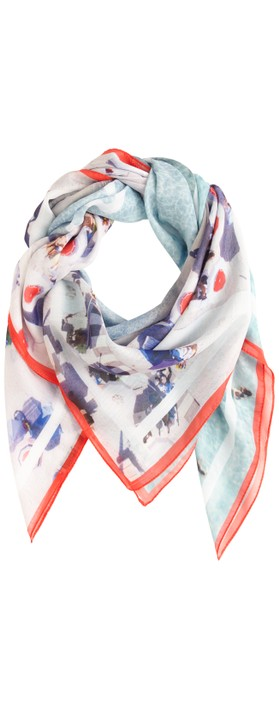Sandwich Clothing Vive Les Vecances Scarf Pop Red