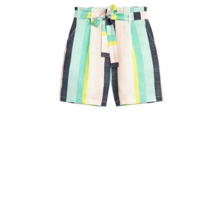 Sandwich Clothing Bold Stripe Linen Shorts - Green