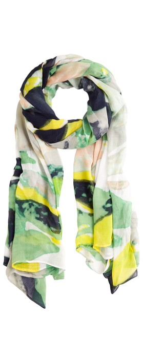 Sandwich Clothing Abstract Print Scarf Navy