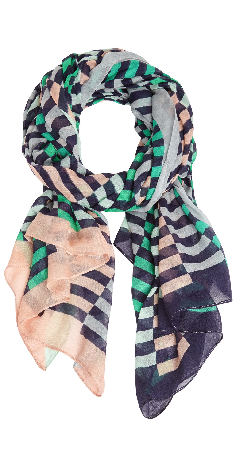 Distorted Stripe Scarf main image