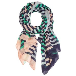 Sandwich Clothing Distorted Stripe Scarf