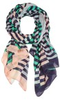 Sandwich Clothing Navy Distorted Stripe Scarf