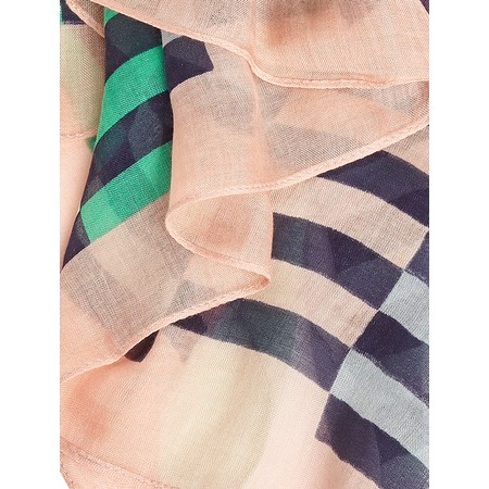Sandwich Clothing Distorted Stripe Scarf - Blue