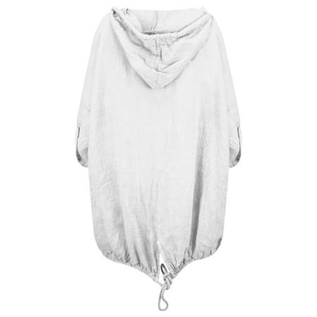Arka Jana Easyfit Hooded Linen Jacket - Metallic