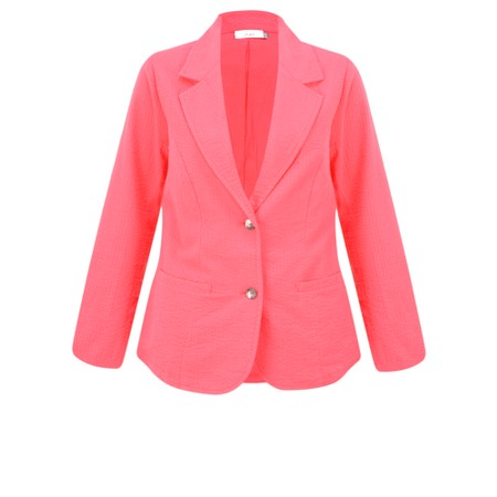 Adini Seersucker Solid Emmy Jacket - Red
