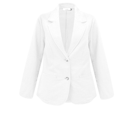 Adini Seersucker Solid Emmy Jacket - White