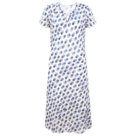 Adini Amber Print Valerie Dress - Blue