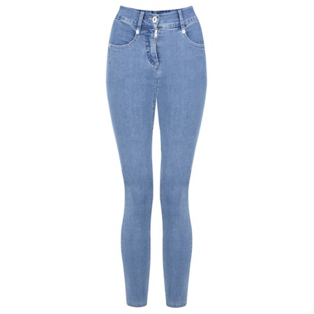 Robell Star 09 Light Denim Power Stretch Cropped Skinny jean - Blue
