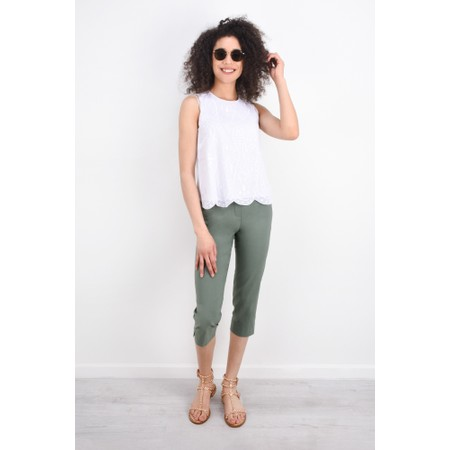 Robell Trousers Marie 07 Cropped Trouser - Green