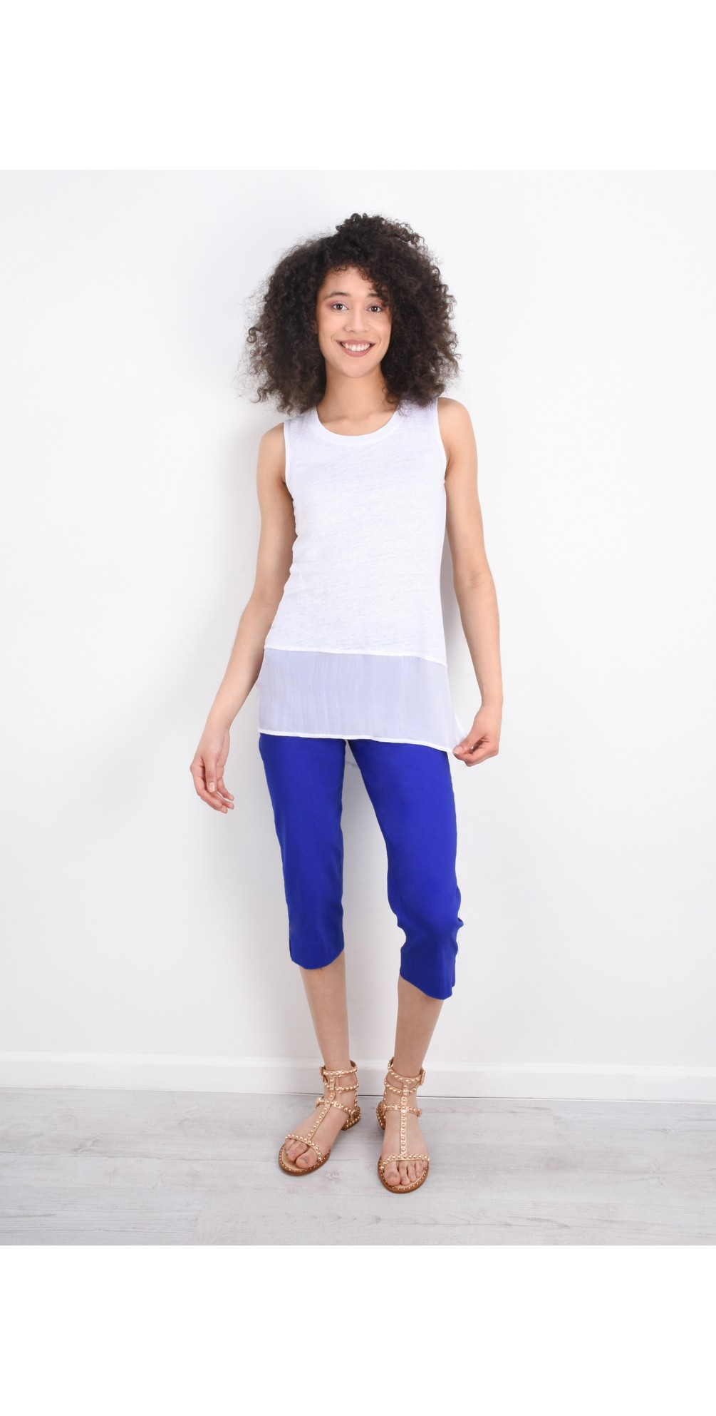 Marie 07 Royal Blue Cropped Trouser main image