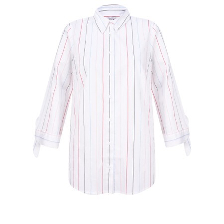 Sandwich Clothing Striped Fitted Shirt - White