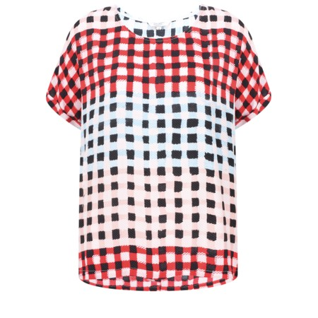 Sandwich Clothing Checked Print Blouse - Pink