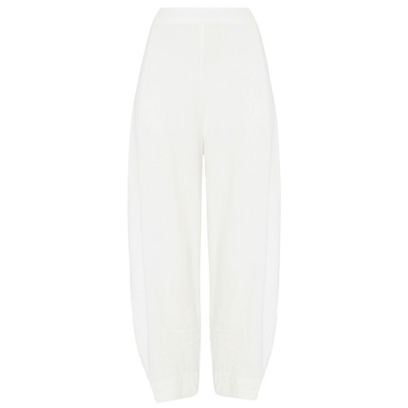 Sahara Textured Linen Cropped Trouser - White