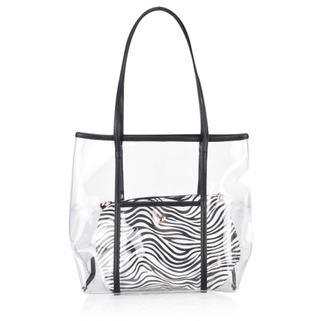 Gemini Label  Bella Animal Print Bag - Black