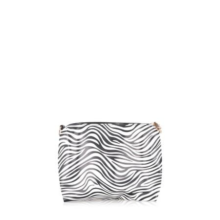 Gemini Label  Bella Animal Print Bag - Black