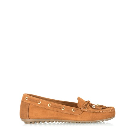 Gemini Label  Caro Tassel Loafer - Brown