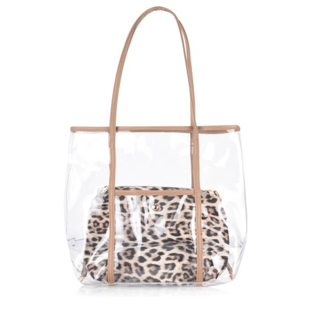 Gemini Label  Bella Animal Print Bag - Brown
