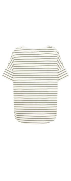 Mama B Frio Riga Stripe Top Spago/Osso