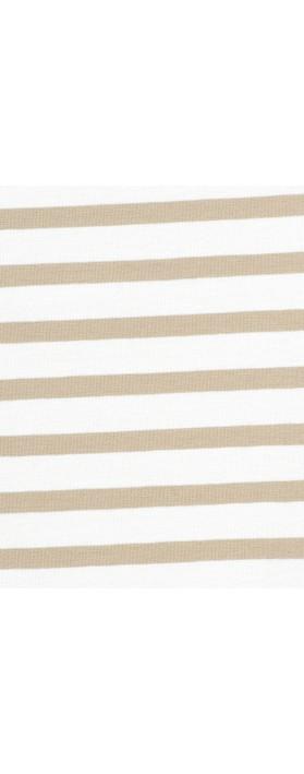 Mama B Nilo Riga Stripe Top Spago/Osso