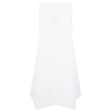 Thing Easy Fit A-Shape Sleeveless Tunic With Pockets - White