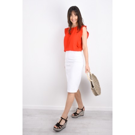 Great Plains Acacia Frill Top - Red