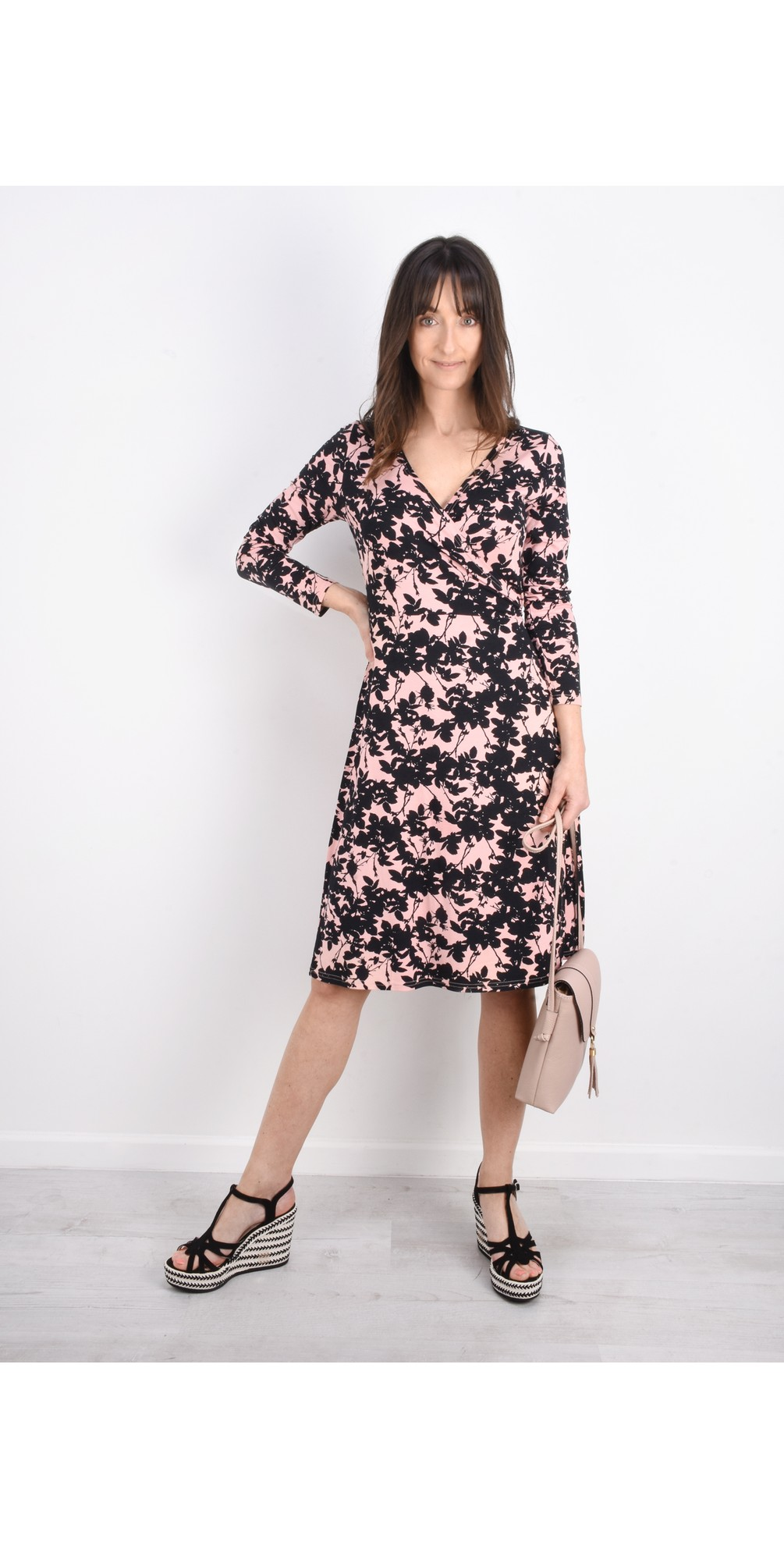 Neba Floral Wrap Dress main image