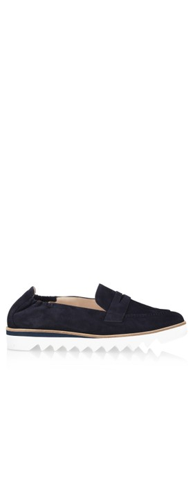Hogl Susie Suede Loafers   Blue