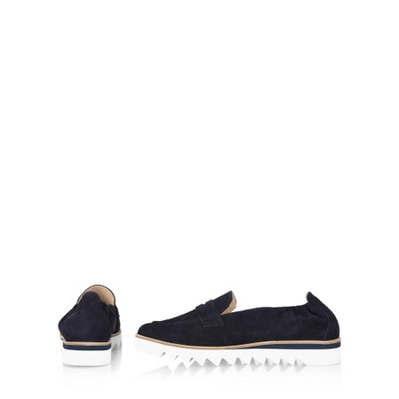 Hogl Susie Suede Loafers   - Blue