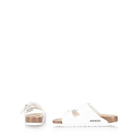 Birkenstock Arizona Birko Flor Matte Sandal - White