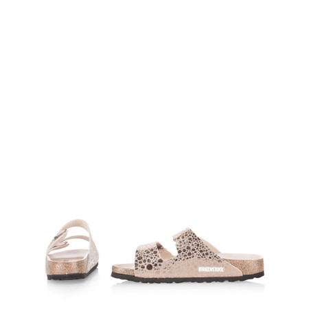 Birkenstock Arizona Birko Flor Metallic Snakeskin Sandals - Metallic