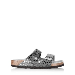 Birkenstock Arizona Birko Flor Metallic Snakeskin Sandals