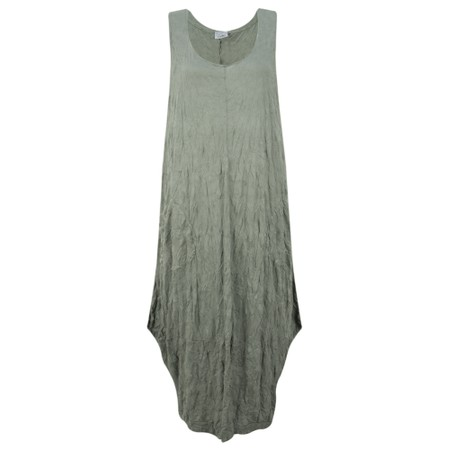 Thing Crinkle Easy Fit Pocket Dress - Beige