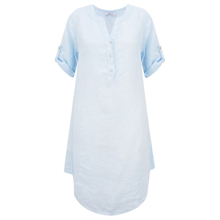 DECK Mairi Linen Dress - Blue