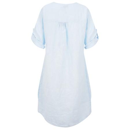 DECK Mairi Linen Dress - Blue