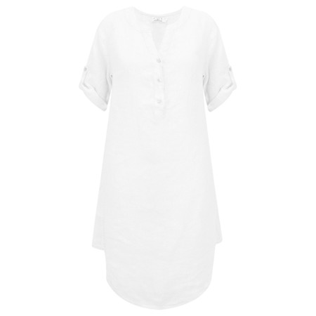 DECK Mairi Linen Dress - White