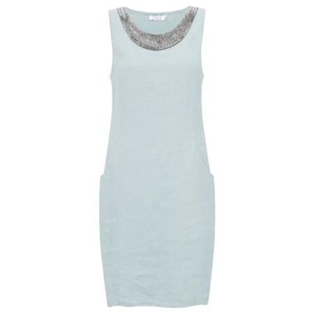 DECK Neivey Linen Dress - Blue