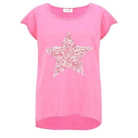 Luella Star Sequin T-Shirt - Pink