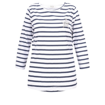 Luella Lyla Stripe T-Shirt - White
