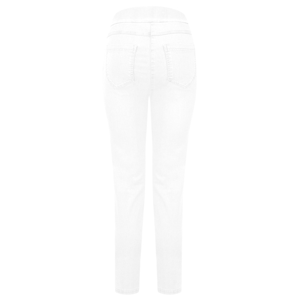 Robell  Nena 09 Ankle Zip Cropped Powerstretch Jeans White 10