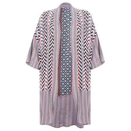 Sandwich Clothing Mosaic Stripe Print Kimono - Pink
