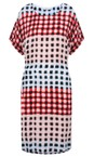 Sandwich Clothing Washed Rose Printed Check Dress