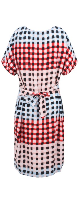 Sandwich Clothing Printed Check Dress Washed Rose