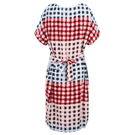 Sandwich Clothing Printed Check Dress - Pink