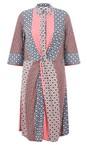 Sandwich Clothing Washed Rose Mosaic Stripe Print Shirt Dress