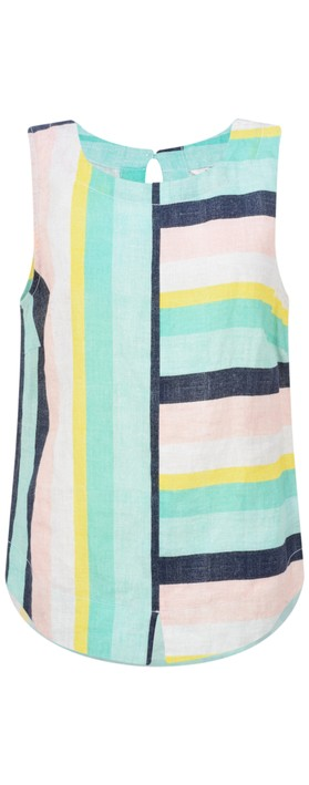 Sandwich Clothing Bold Stripe Linen Top Pastel Jade
