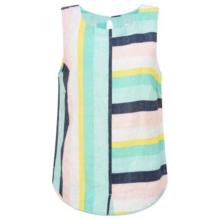 Sandwich Clothing Bold Stripe Linen Top - Green