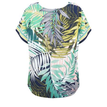 Sandwich Clothing Palm Leaf Jungle Print Top - Green