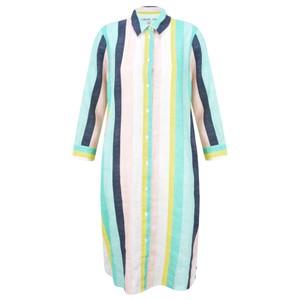 Sandwich Clothing Bold Stripe Linen Shirt Dress